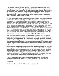 kurt keener letter of recommendation for jonathan w stevens